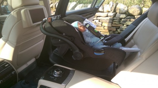 Testing Angle under compression in an actual baby car seat